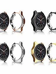 cheap -case compatible with samsung galaxy watch 42mm sm-r810 protector, 4 packs soft tpu cover shockproof bumper shell (black+silver+gold+rose gold, 42mm)