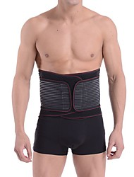 cheap -sauna waist trimmer, wide men waist trainer, sweat ab belt with adjustable pressure straps, weight loss back support neoprene motion splicing belt (l 32-41 inch)