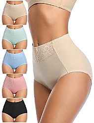 cheap -women panties cotton high waist full coverage underwear soft briefs