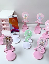 cheap -Cute Cartoon Cell Phone Holder Foldable Phone Tablet Holder Universal portable Desktop Tablet Stand Mobile Phone Stand Mount For Iphone Samsung Xiaomi