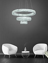 cheap -3 Rings Crystal Circle Pendant Lights LED Luxury Chandelier Light Fixtures For Living Room Dining Room 110-120V 220-240V