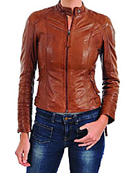 cheap -kainat women's lambskin leather jacket handmade product 224 xxxl tan