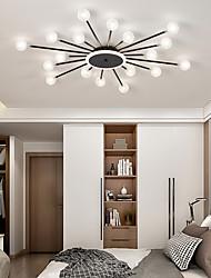 cheap -18/24 Heads LED Ceiling Light Modern Globe Design Black Gold Nordic Style Living Room Bedroom Shopping centre Hotel Flush Mount Lights Metal 95cm 110cm 110-120V 220-240V