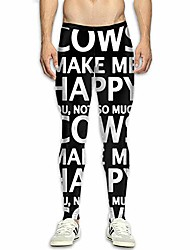 cheap -cows make me happy you,not so much mens compression leggings base layer dry cool fitness long pants for men white