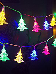 cheap -Christmas Decoration 10M Christmas Tree Snowflake String Lights 80 LEDs for Bedroom Stairs New Year Holidays Ornament 1 Set Battery Powered 4.5V