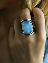 cheap -Ring Moonstone Silver Silver 2 18K Gold Plated Stylish Artistic Unique Design 1pc 6 7 8 9 10 / Women's / Party / Wedding / Gift / Daily