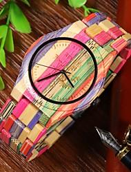 cheap -women's wooden watch bamboo analog quartz lightweight handmade wrist watch (multi-color 1)