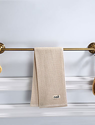 cheap -Towel Bar Multifunction Antique Aluminum Material Wall Mounted Bathroom Single Towel Rod Carved 1pc