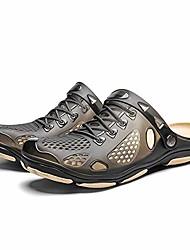 cheap -xkx men garden clogs anti-slip beach sandals |outdoor comfort slippers shoes for men (7, black)