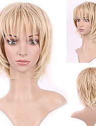 cheap -short wispy curly pixie cut wig for women copper red heat resistant synthetic hair natural daily cosplay costume party auburn wigs