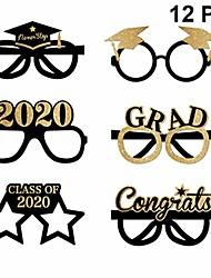 cheap -graduation eyeglasses 2020 glitter grad glasses frame fancy decorative eyeglasses celebration congrats party favor for graduation party decorations 12pcs