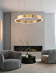 cheap -60cm LED Pendant Light Gold Ring Light Island Light Modern Living Dinning Room Bedroom Metal Electroplated 110-120V 220-240V