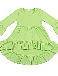 cheap -toddler girls 3/4 sleeve boutique dresses casual high low dress green 2t