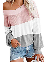 cheap -sweaters for women v neck pullover long sleeve tunic scalloped hemline soft fashionable maternity clothes easy wearing comfy sweatertops for date pink s