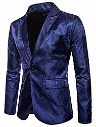 cheap -lucamore men's floral tuxedo jacket embroidered suit jacket for dinner,party,wedding,prom navy