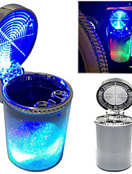 cheap -Car Ashtray with LED Light Air Vent Cigarette Cigar Ash Tray Container Smoke Ash Cylinder Smoke Cup Holder