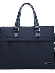 cheap -Men's Bags PU Leather Leather Shoulder Messenger Bag Laptop Bag Briefcase Zipper Handbags Daily Outdoor Black Blue