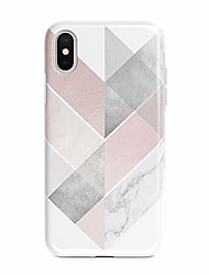 """cheap -case compatible with iphone x/xs rose pink geometric marble, shockproof slim tpu soft flexible rubber gel cover case compatible with iphone x/xs 5.8""""(rose pink geometric marble)"""