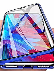 cheap -eabhulie redmi note 7 case, 360° full body transparent tempered glass with magnetic adsorption metal bumper case cover for xiaomi redmi note 7 pro blue
