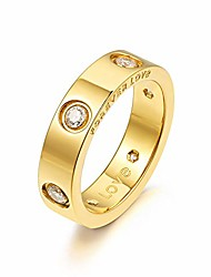 cheap -promise love rings for women, 18k gold plated engagement wedding bands, gift for her, 5mm (gold, 6)