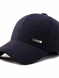 cheap -wool baseball hat,tweed baseball cap,winter wool baseball cap caps of mens winter fitted hats with ear flaps visor fitted outdoor warm hat navy