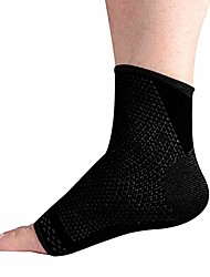 cheap -compression ankle brace (pair) – great ankle support that stays in place – reduce foot swelling & prevent ankle injuries – perfect ankle sleeve for sports, any use (l, black)