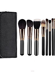 cheap -11 Pcs Makeup Brush Sets Animal Hair Loose Powder Brush Blush Brush Eye Shadow Brush Beauty Tool