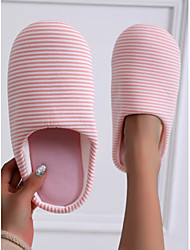 cheap -Women's Slippers & Flip-Flops Indoor Slippers Flat Heel Round Toe Casual Sweet Home Polyester Floral Winter Pink Light Blue