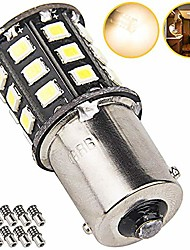 cheap -1156 1141 1003 led bulbs for rv ceiling dome light trailer camper interior lighting, car back up reverse lights, brake lights, tail lights, rear turn signal lights, warm white 2700-3000k (pack of 10)