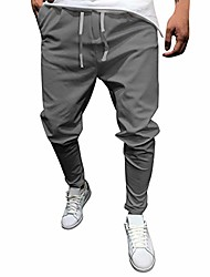 cheap -pants for men new plus size solid pant casual lace-up drawstring slacks solid color eight points pants trousers m-5xl