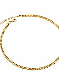 cheap -stainless steel 3mm solid 4d franco curb link chain bracelet 19cm long, with gift box