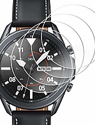 cheap -[4 pack] compatible samsung galaxy watch 3 41mm screen protector film, waterproof tempered glass screen protector film for galaxy watch 3 41mm