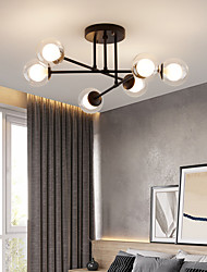 cheap -58cm LED Ceiling Light Nordic Sputnik Design Black Gold Globe Design Glass Chandelier Metal Artistic Style Sputnik Industrial Painted Finishes Artistic Nordic Style 110-120V 220-240V