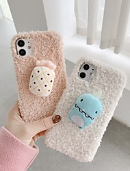 cheap -Case For Apple iPhone 12 / iPhone 11 / iPhone 12 Pro Max Shockproof Back Cover Animal / Cartoon TPU