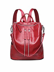 cheap -travel backpack purse for women convertible leather shoulder weekender bag (red)