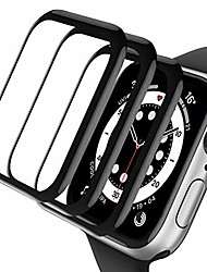cheap -compatible with apple watch series 3/2/1 screen protector with black edge, advanced hd clarity/case friendly 99% touch accurate/anti-scratch/anti-bubble for iwatch 38mm [3-pack]
