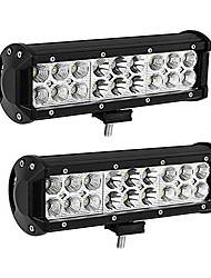 cheap -led light bar 2pack 54w 9inch led light pod spot flood combo offroad light driving fog light reverse light waterproof van atv motorcycle truck boat golf cart 12v, 2 years warranty