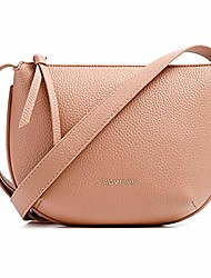 cheap -shoulder handbags for women, pu leather crossbody bag shell model ladies small shoulder bag with adjustable shoulder strap (pink)