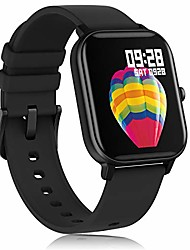 cheap -smart watch for android phones iphone for men women, fitness tracker watch with heart rate monitor , waterproof activity tracker with sleep monitor(black)