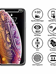 cheap -[3 pack] iphone xs/x glass screen protector,  [3d curved edges] tempered glass for iphone xs/x(5.8 inch), easy install, case friendly, 9h hardness