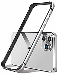 "cheap -aluminum frame metal bumper slim hard case cover for iphone 12 pro max 12 mini, metal frame armor with soft inner bumper, raised edge protection (silver, 6.7"" iphone 12 pro max)"