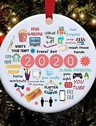 cheap -Christmas Decorations Clearance 2020 A Year to Remember Christmas Ornament Christmas Quarantine Gift Christmas Tree Pendant Tree Decoration Pandemic Ornament