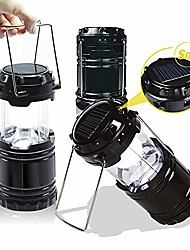 cheap -[3-pack solar rechargeable led lantern with dual power supply and built-in power bank, apl2188