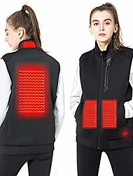 cheap -women's heated vest lightweight slim fit insulated usb electric heating winter vest (power bank not included) (xl)