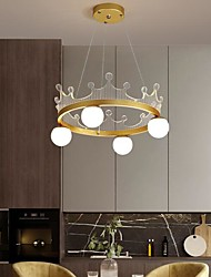 cheap -50 cm LED Pendant Light Gold Crown Design Nordic Style Ring Globle Metal Painted Finishes 110-120V 220-240V