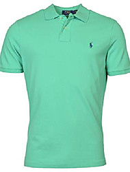 cheap -men's classic-fit solid mesh polo shirt (green, s)