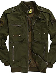cheap -men's cotton military air force bomber jackets usa army (us large/tag xxl, 331/armygreen)