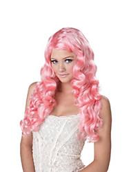 cheap -women's eye candy - sweet tart wig, pink, one size