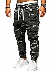 cheap -fanshonn men's jogger pants - fashion camouflage loose trousers drawstring cargo pant sweatpants m-4xl