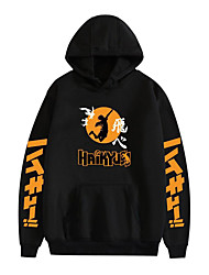 cheap -Inspired by Haikyuu Karasuno High Cosplay Costume Hoodie Polyester / Cotton Blend Graphic Printing Hoodie For Men's / Women's